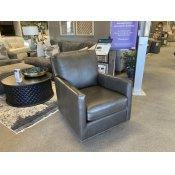 Trent Leather Swivel Glider