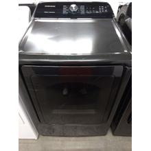 Black Samsung High Efficiency Dryer (This may be a Stock Photo, actual unit (s) appearance may contain cosmetic blemishes. Please call store if you would like additional pictures). This unit carries our 6 Month warranty, MANUFACTURER WARRANTY and REBATE NOT VALID with this item. ISI 37580 W