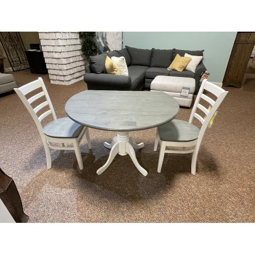 John Thomas Furniture - DINETTE SET WITH 2 CHAIRS