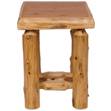 Cedar Log Open Nightstand