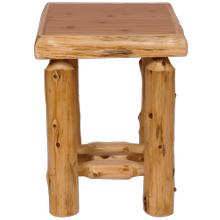 View Product - Cedar Log Open Nightstand