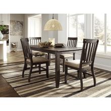Dresbar - Grayish Brown - 5 Pc. - Rectangular Table & 4 Upholstered Side Chairs