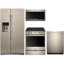 Whirlpool Sunset Bronze Floor Model Kitchen Package