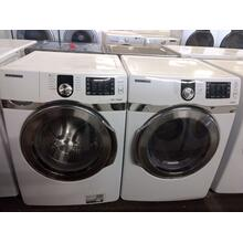 Refurbished  White STEAM Samsung Front Load Washer Dryer Set  Please call store if you would like additional pictures. This set carries our 6 month warranty, MANUFACTURER WARRANTY AND REBATES ARE NOT VALID (Sold only as a set)
