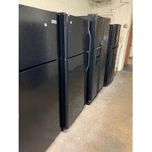 Daily rotating selection of Refurbished Black Top Mount Refrigerators.