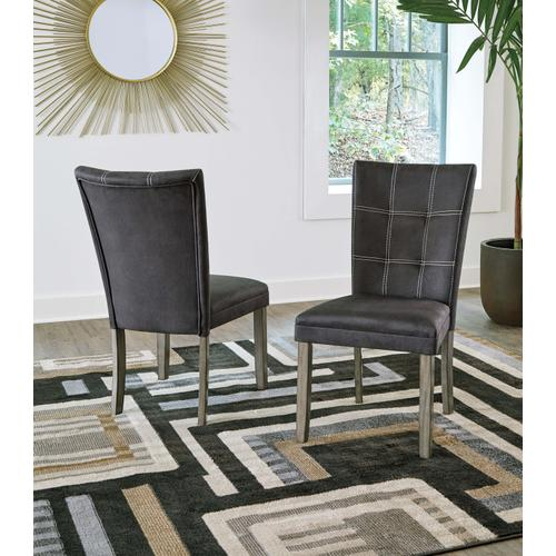 Dontally - Two-tone - 5 Pc. - Rectangular Table & 4 Upholstered Side Chairs