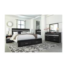 B304 8PC Set: King Storage Bed, Dresser, Mirror, Chest, and Nightstand (Starberry)