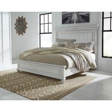View Product - Kanwyn Cal King Panel Bed Whitewash