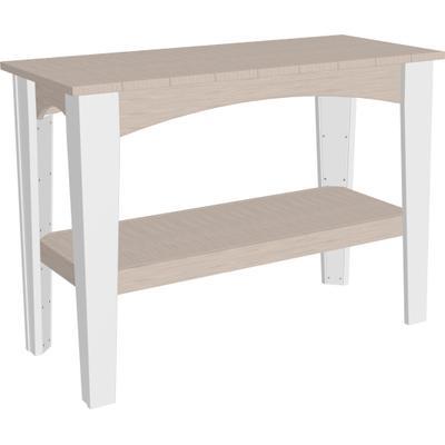 Island Buffet Table Premium Birch and White