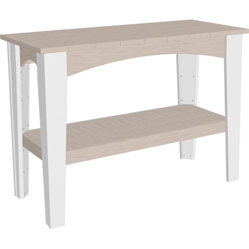 Island Buffet Table Premium Birch and White