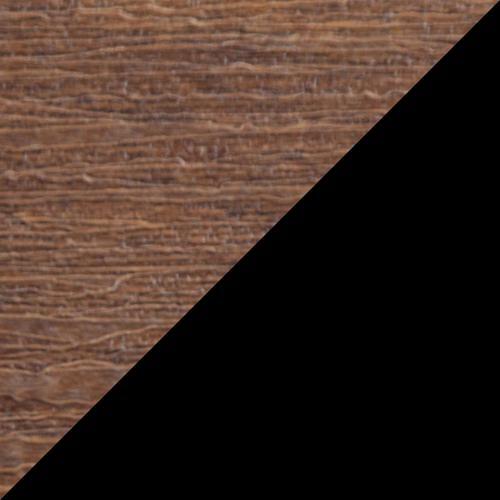 Adirondack Glider 4' Premium Antique Mahogany and Black