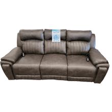 View Product - Power Headrest Reclining Sofa w/ Heat, Lumbar & Massage- Pasadena Granite