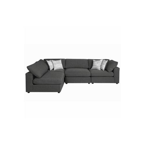 Product Image - Serene  Charcoal Modular 5 Piece Sectional