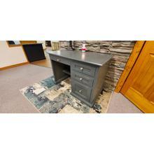 See Details - 1 ONLY - Solid Oak Mission Style Desk