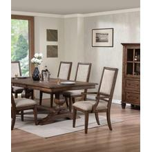 Sutton Manor Dining Table and 4 Chairs   2 ARM Chairs
