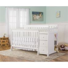 Brody 5 in 1 Convertible Crib with Changer in White