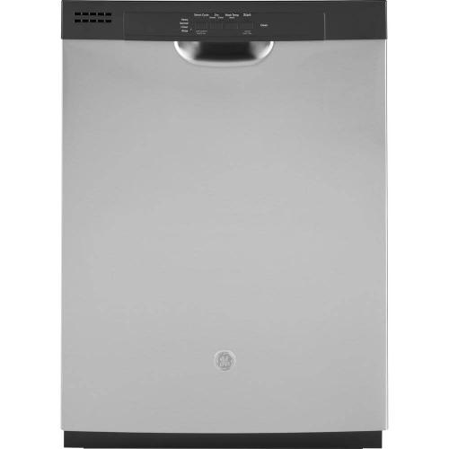 GE 59dBA Stainless Steel Front Control with Plastic Tub