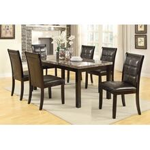 7 Piece Real Marble Dining Set
