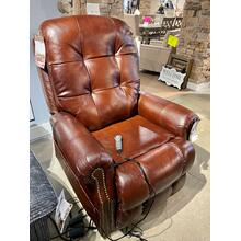 Leather Power Lift Chair w/ Heat & Massage