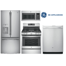 GE Kitchen Package with full depth Refrigerator