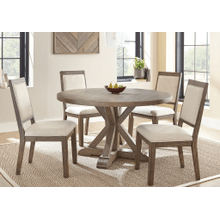 Steve Silver Molly Grey Washed Round 5-Piece Dining Set