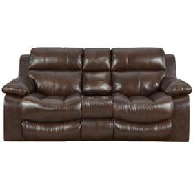 CATNAPPER LEATHER POWER RECLINING LOVE SEAT WITH CONSOLE