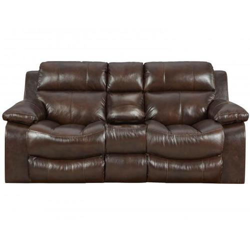 Catnapper - CATNAPPER LEATHER POWER RECLINING LOVE SEAT WITH CONSOLE