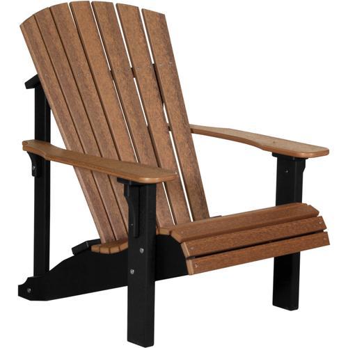 Deluxe Adirondack Chair Premium Antique Mahogany and Black