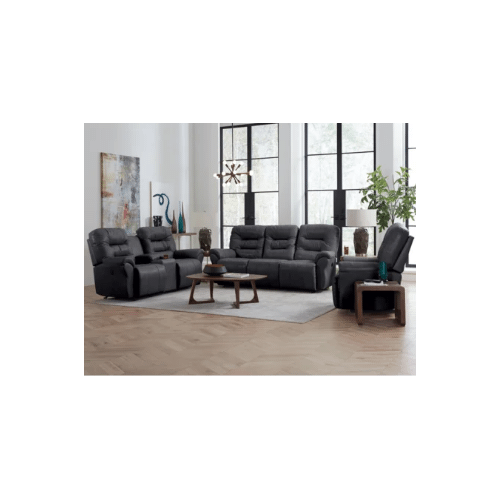 UNITY LEATHER POWER SPACE SAVER RECLINING SOFA in Steel      (S730CP4-71953L,44901)