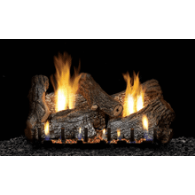 Sassafras Gas Logs on Sloped Glaze Burner