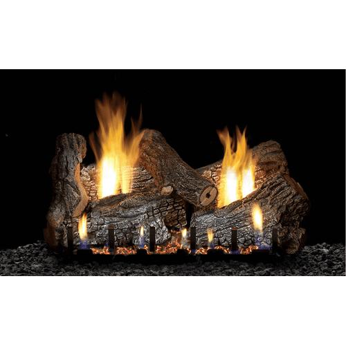Sassafras Gas Logs on Sloped Glaze Burner