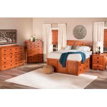 American Mission Storage Bed in Quarter Sawn Oak Color #13