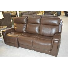 3-seat leather Flexsteel sofa. Power recline and power headrest
