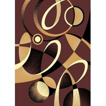 Medium - Contempo 45 Chocolate 5x8 Rug