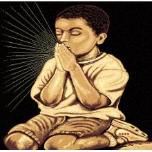 Medium - Adventures Kid Praying 2 5x8 Rug