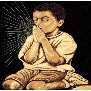 American Cover Design - Medium - Adventures Kid Praying 2 5x8 Rug
