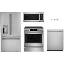 GE Cafe Package with slide-in Electric Range