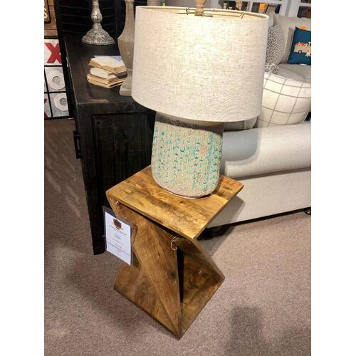 Handmade Global Archive Accent Table
