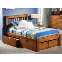 Laguna Twin Platform Bed in Pecan  (under drawer unit sold separately)       (INN-LAGT)