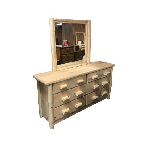 6-Drawer Medium Dresser with Mirror