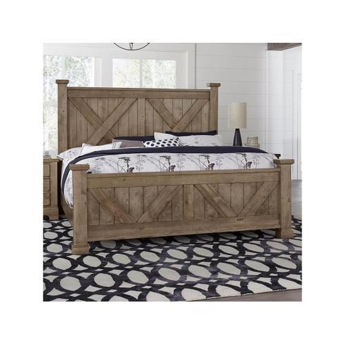 Vaughan-Bassett - King Cool Rustic Stone X Bed
