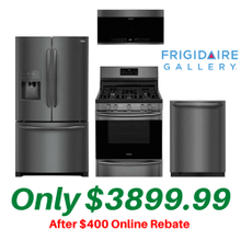 Frigidaire Gallery Black Stainless Kitchen Suite with Air Fry Convection Stove