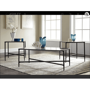 T003-13  Cocktail and 2 End Tables