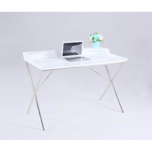 Chintally Desk High Gloss White