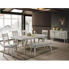 Crown Mark 2132 White Sands 6PC Dining Table