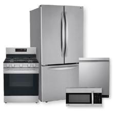 See Details - 25 cu. ft. French Door Refrigerator & 5.8 cu ft. Smart Wi-Fi Enabled Fan Convection Gas Range  Package