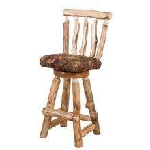 "A317 30"" Swivel Barstool with Back & Upholstered Seat"