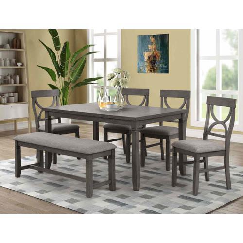 Lifestyle - LIFESTYLE C8618D-D4XF9XDYX C8618D-DN1F9XDYX Waco 6-Piece Dinette - Table, 4 Side Chairs & Bench