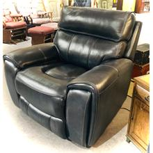 POWER CHAISE RECLINER in Navy Leather/Vinyl      (5781-1,40127)