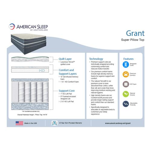American Sleep - Grant - Super Pillow Top